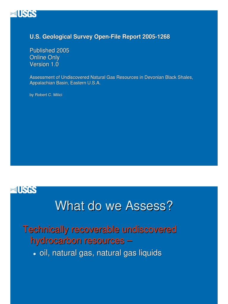 Shale Gas Resources in US - USGS Report   Petroleum Reservoir
