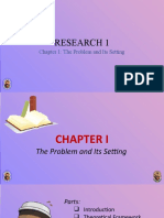 Chapter 1 The Problem and Its Settings