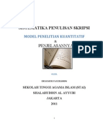 Penjelasan Sistematika Penulisan Skripsi Model Penelitian Kuantitatif _3