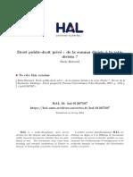 Boris Barraud - Droit Public Droit Privé de La Summa Divisio à La Ratio Divisio