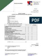 Fisa de Avizare a Proiectului de Programa- Optional EDUCAȚIE TIMPURIE