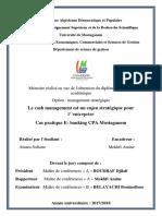 271 Le cash management est un enjeu stratégique pour l''entreprise, Cas pratique E- banking CPA Mostaganem.pdf