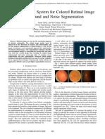 Retinal images- Blood vessel segmentation by threshold probing