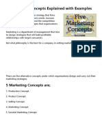 Marketing Concept - 5 Concepts of Marketing Explained with Examples