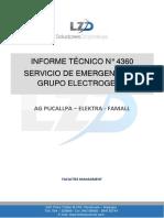 INFORME TECNICO N° 4360  SERVICIO DE ATENCION DE EMERGENCIA EN GRUPO ELECTROGENO - AG AGUAYTIA - ELEKTRA - FAMALL