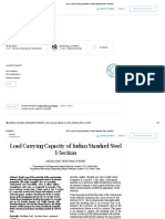 (PDF) Load Carrying Capacity of Indian Standard Steel I-Section