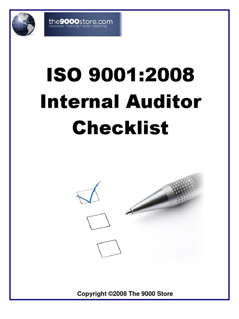 iso 9001 2015 gap analysis checklist pdf