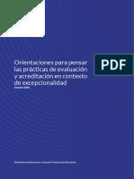 Orientaciones para pensar las prácticas de evaluación y acredita