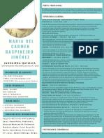 CV - Ing. Qca Maria del Carmen Baspineiro