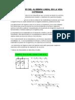 Aplicaciones del Algebra Lineal en la vida cotidiana