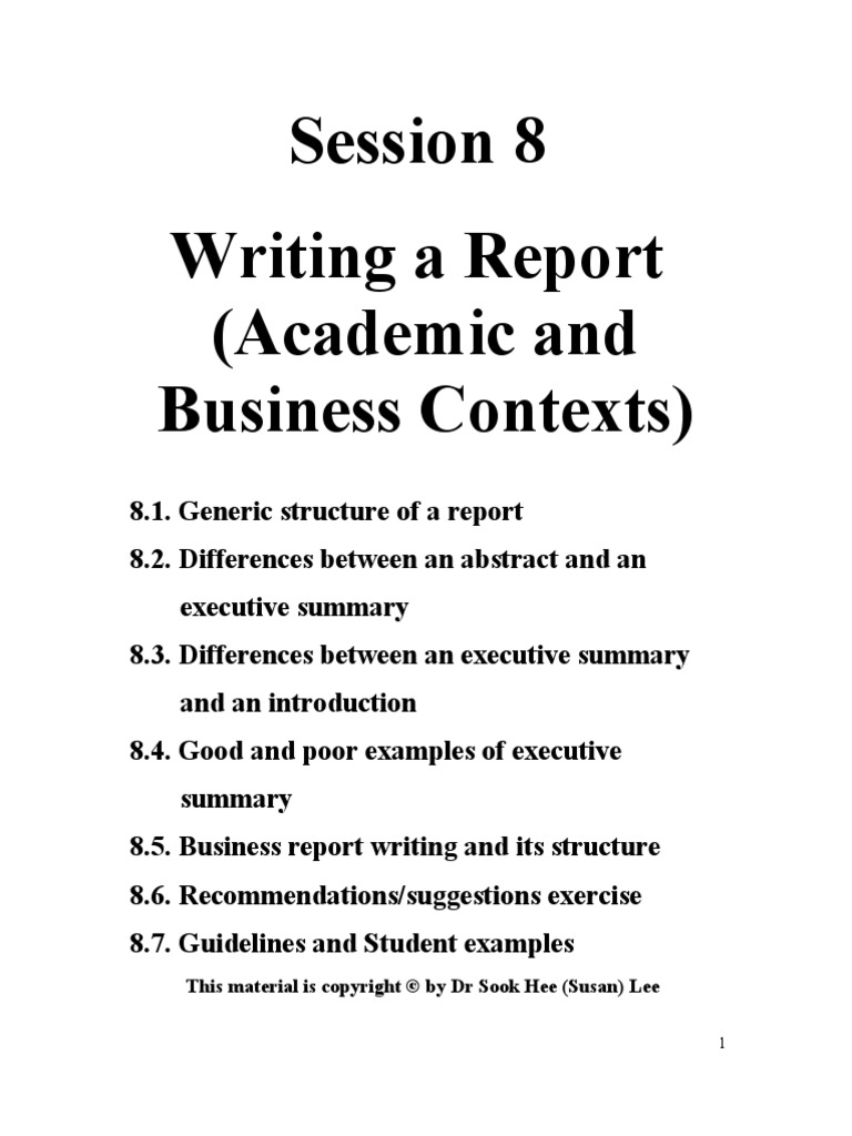 How to write an executive summary for a business report – Executive Summary of a Report Example