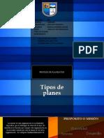 proceso de planeacion-tipos de planes