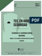 SEGURIDAD IV - MODULO X - UTILIZACIÓN DE EQUIPOS PORTÁTILES CONTRA INCENDIOS.