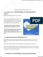 3 Simple Keys To Hearing God's Voice