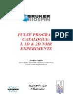 Pulse Program Catalog 1 (1D and 2D Experiments).pdf