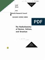 the radiochemistry of barium,calcium and strontium.US AEC