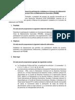 Aportes al proyecto de Manual de Participación Ciudadana - PNUME