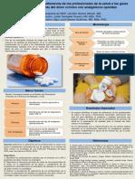 Póster adherencia de profesionales de salud a guías de dolor crónico con analgésicos opioides