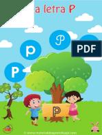 07 La Letra p Material de Aprendizaje Imprenta