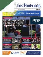 DIARIO LAS AMÉRICAS Portada digital del lunes 2 de noviembre de 2020