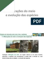 5.7. Alterações do meio ambiente