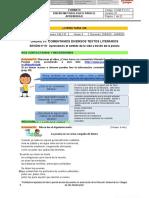 Diseño metodológico para el aprendizaje N° 01-5°