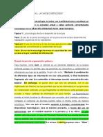 EJEMPLO PÁRRAFO ARGUMENTATIVO POLÉMICO