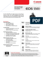 EOS 550D Tech Sheet