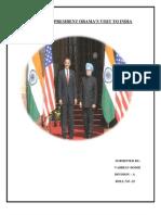 IMPACT OF PRESIDENT OBAMA'S VISIT TO INDIA