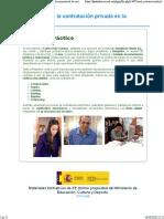 3. Documentos de la contratación privada en la empresa