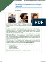 4. Derecho administrativo y documentos requeridos por los organismos públicos