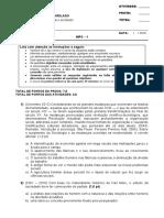 Sociologia Geral e do Direito DI01NB - 2016-1