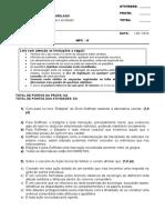 Sociologia Geral e do Direito DI01NB NPC II - 2016-1