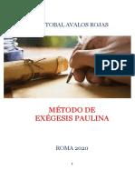 Método de Exégesis Paulina Por CRISTOBAL AVALOS ROJAS