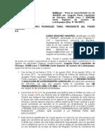 SOLICITUDES AL PRESUIDENTE DEL PODER JUDICIAL Y DEFENSOR DEL PUEBLO