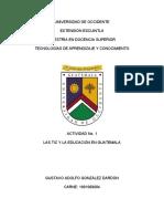 LAS TIC Y LA EDUCACIÓN EN GUATEMALA