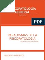 PSICOPATOLOGÍA GENERAL - PARADIGMAS