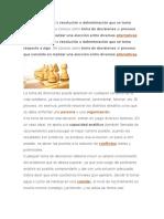 FUNDAMENTOS DE LA TOMA DE DECISIONES