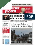 La Une du Courrier Picard du 15 janvier 2011
