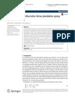 dynamics-of-a-discrete-time-predator-prey-system