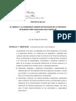 PROYECTO de LEY - Arraigo Bonaerense
