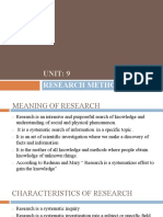 Chapter-9 RESEARCH METHODS