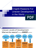 Chapt 9-Reasons for Uneven Development in the World
