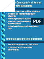 Common Components of Human Resource Management