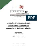 La musicoterapia como terapia alternativa en pacientes con esquizofrenia de larga evolución