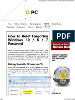 How to Reset fotgotten windows 10-8-7 password