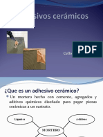 Presentación General Adhesivos