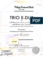 Trio E-Dur pour deux Flûtes et Basse Continue (flute 2 part)