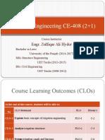 Irrigation Engineering CE-408 (2+1)