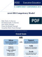 Ulrich, D., Younger, J., Brockbank, W., and Ulrich M. (2012). The New HR Competencies, Business Partnering from the Outside-in